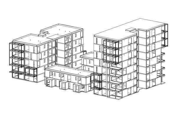 Press House Line Drawing -  Eurban