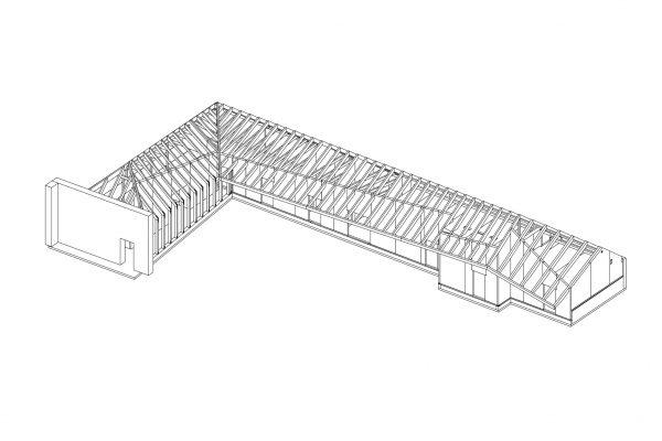 Charleston Barns Line Drawing -  Eurban
